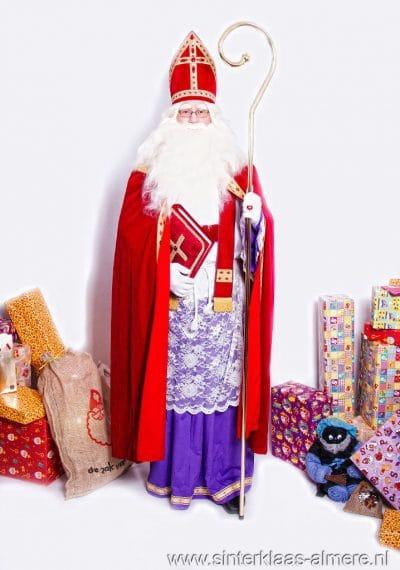 Sinterklaas met pakjes en grote boek